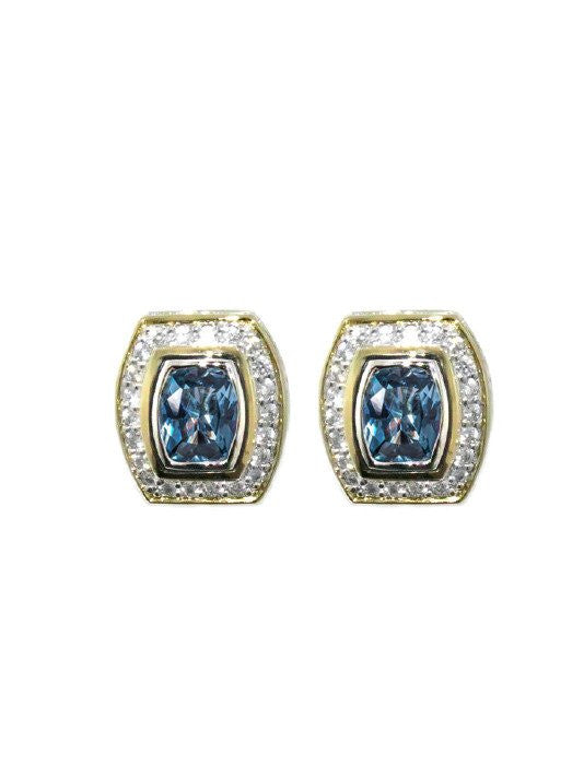 Nouveau Pave Accented Barrel Post Clip Earrings by John Medeiros