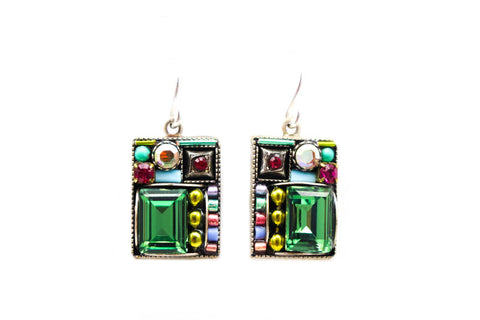 Soft Geometric Large Square Earrings by Firefly Jewelry
