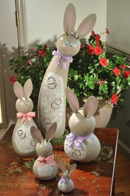 Spring Kourtney Large Tall Lit Bunny Gourd