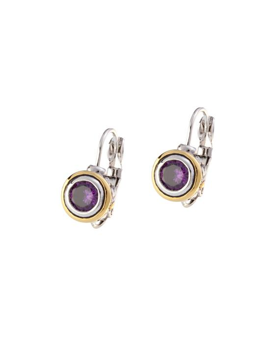 Beijos 6mm Cubic Zirconia Bezel Set Earrings by John Medeiros
