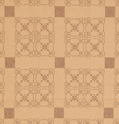Carriage Wheel Table Square in Tan with Brown