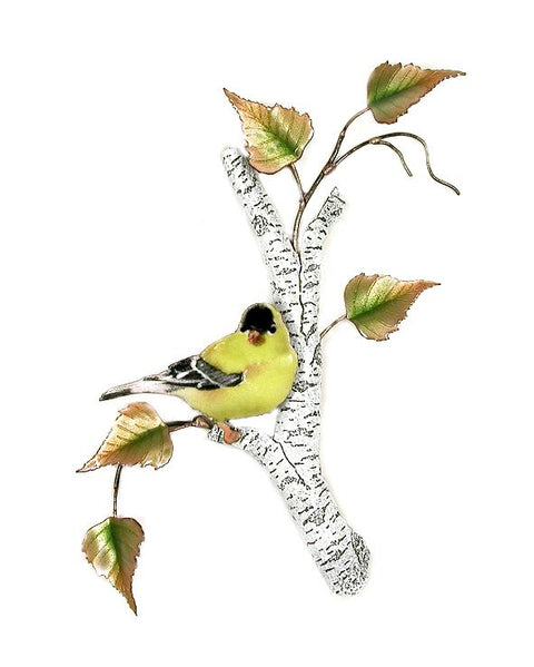 Goldfinch on Birch Wall Art by Bovano Cheshire