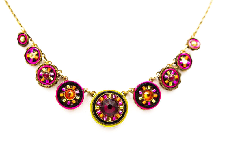 Ruby La Dolce Vita Circles Necklace by Firefly Jewelry