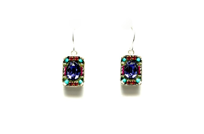 Multi Color Petite Crystal Earrings by Firefly Jewelry