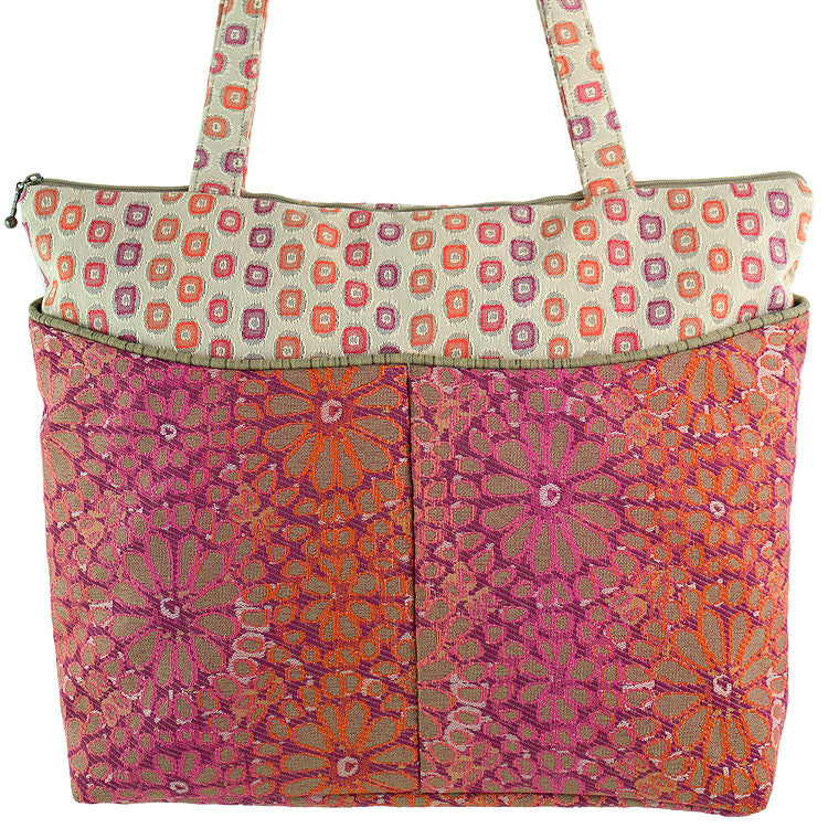 Maruca Tote Bag in Botany Hot