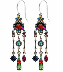 Multi Color Cascading Chandelier Earrings by Firefly Jewelry