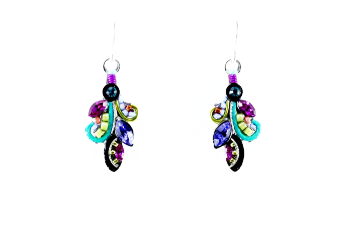Multi Color Curly Q Earrings by Firefly Jewelry