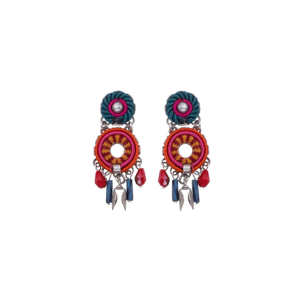 Crimson Voyage Julia Earrings by Ayala Bar