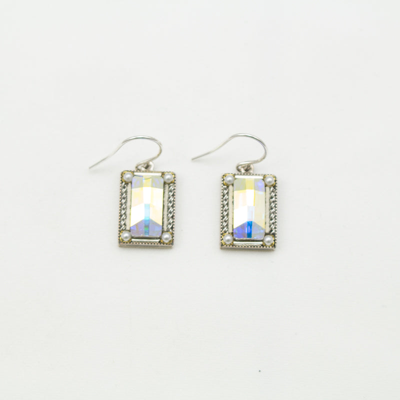 Aurora Borealis Crystal Emerald City Earrings by Firefly Jewelry