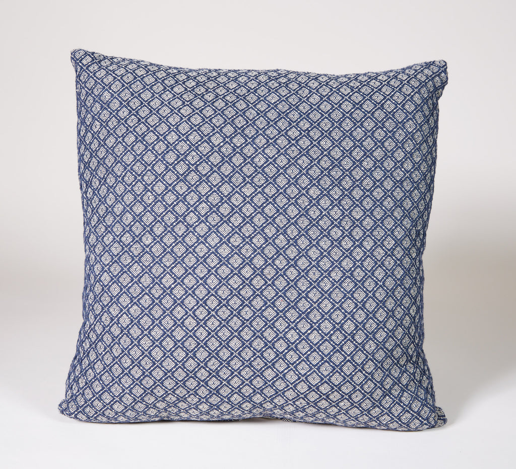 Angstadt #26 Pillow in Blue and Linen