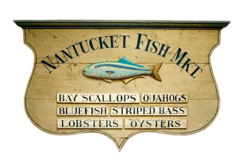 Nantucket Fish Market Shield Americana Art