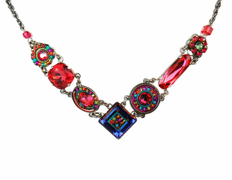 Padparadscha La Dolce Vita V Necklace by Firefly Jewelry