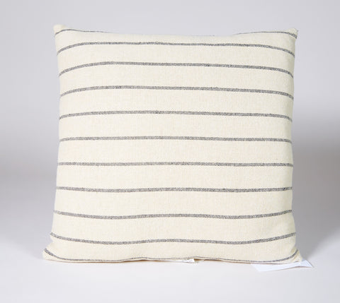 Stripe #12 Pillow Beige with Black