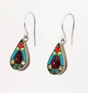 Multi Color Love Drop Earrings by Firefly Jewelry