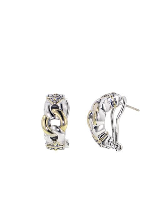 Antiqua Three Circle Post Clip Earrings by John Medeiros