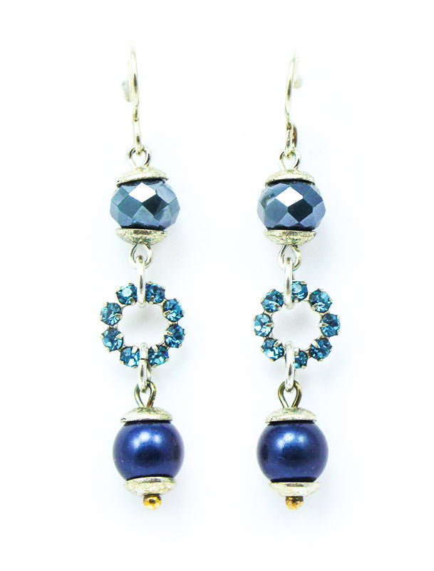 Crystal Blue Drop Earrings by Desert Heart