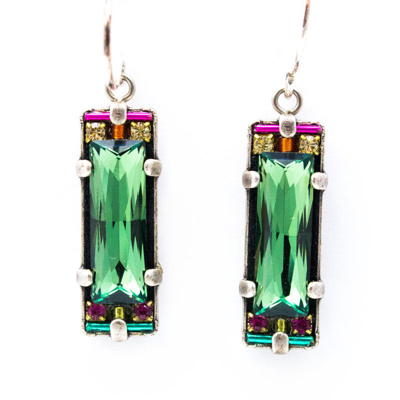 Erinite Crystal Earrings by Firefly Jewelry