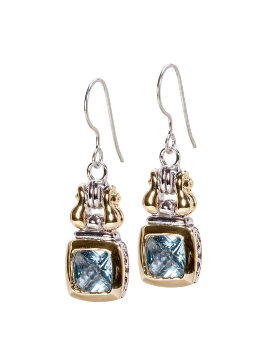 Anvil Square Fish Hook Earrings by John Medeiros Jewelry
