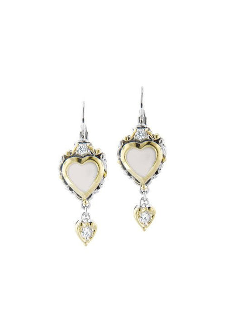 Heart Collection Mother of Pearl French Wire Earrings by John Medeiros
