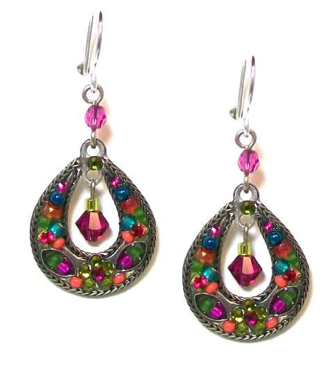 Multi Color Mosaic Earrings by Firefly Jewelry