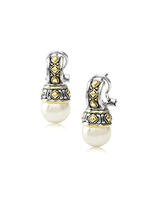 Large White Pearl Earrings by John Medeiros