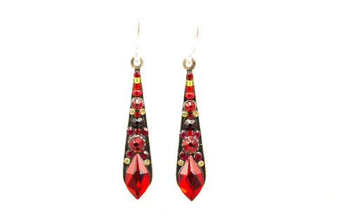Red Gazelle Medium Drop Earrings by Firefly Jewelry