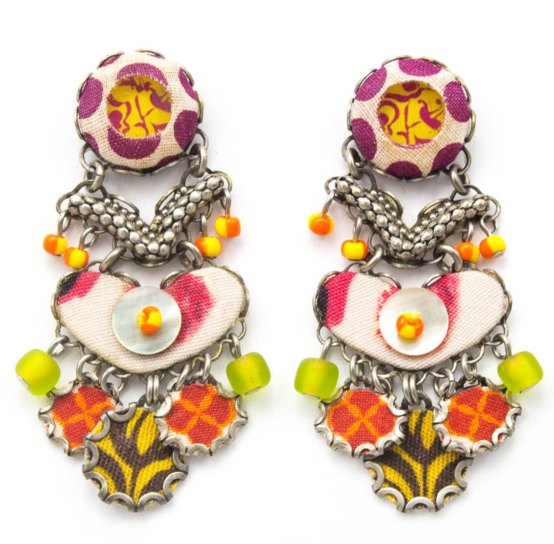 Sugar Plum Hip Collection Earrings by Ayala Bar
