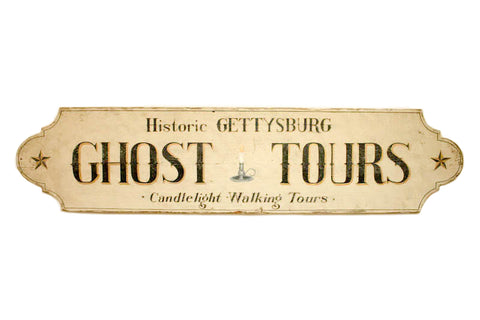 Gettysburg Ghost Tours Extra Large in White Americana Art