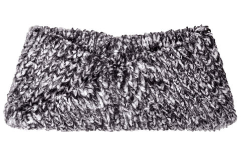 Cozy Cable in Ash Luxury Faux Fur Headband
