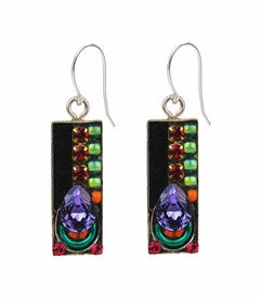 Multi Color Shadowbox Earrings by Firefly Jewelry