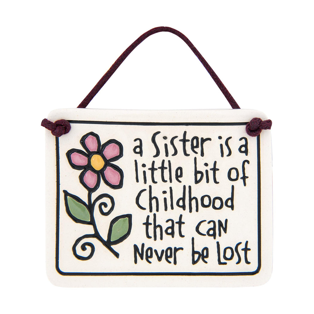 Sister Bit Of Childhood Charmer Ceramic Tile