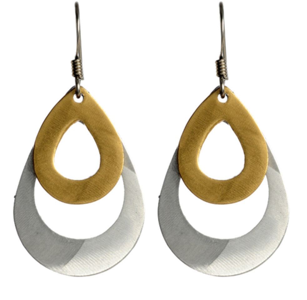 Layered Open Teardrop Earrings