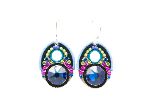 Bermuda Blue Large Crystal Earrings by Firefly Jewelry