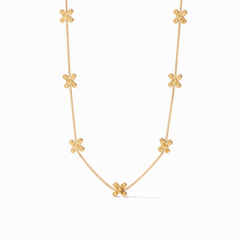 SoHo Delicate Station Necklace Gold 17-18-19 Inches by Julie Vos