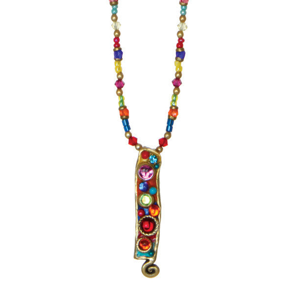Confetti Long Rectangle Beaded Necklace