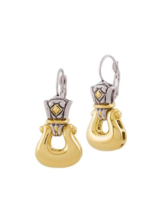 Anvil Gold Horseshoe French Wire Earrings by John Medeiros
