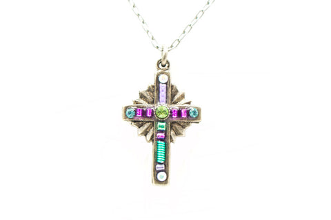 Lavender Petite Cross by Firefly Jewelry