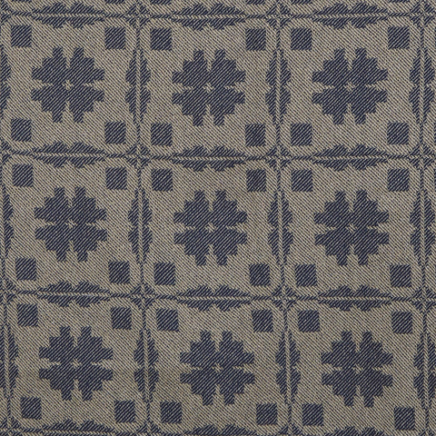 Fancy Snowballs Table Square in Blue with Wheat