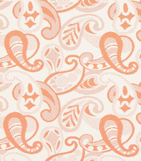 Paisley Table Cloth/Throw in Orange