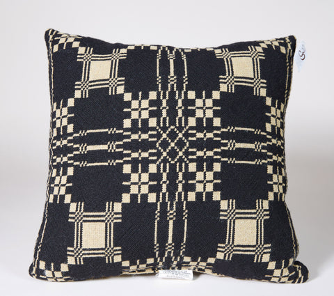 Monterey Pass Pillow in Black, 14x14
