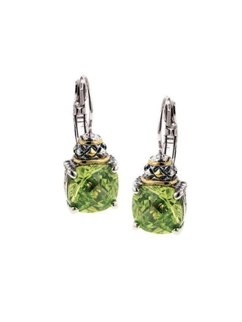 Anvil Square Cut  French Wire Earrings by John Medeiros