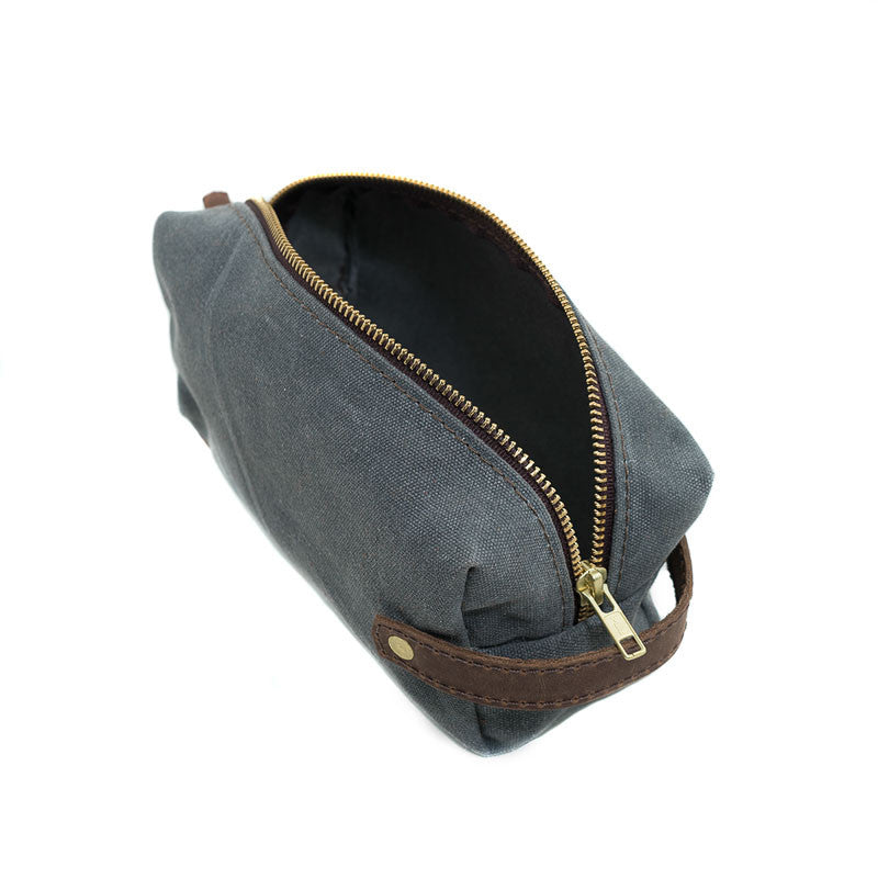 Leather High Line Two Pouch with Waxed Canvas - Available in Multiple Colors