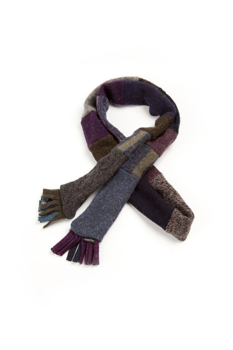 Wool Skinny Scarf in Jewel