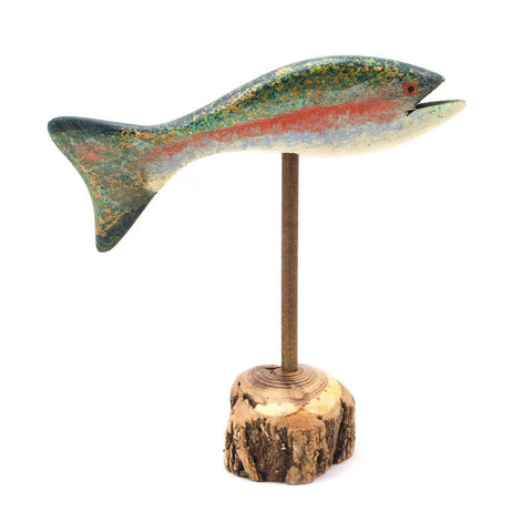 Rainbow Small Pedestal Fish Trout by Chris Boone
