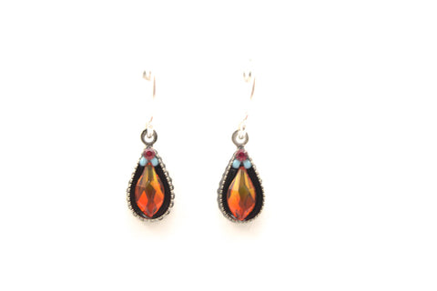 Multicolor Petite Drop Flame Earrings by Firefly Jewelry
