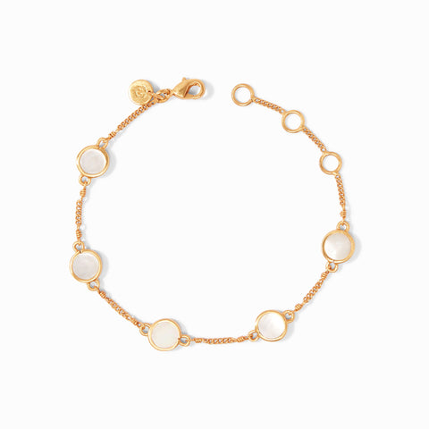 Valencia Delicate Bracelet Gold Mother of Pearl by Julie Vos