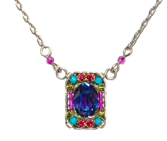 Multi Color Petite Crystal Pendant by Firefly Jewelry