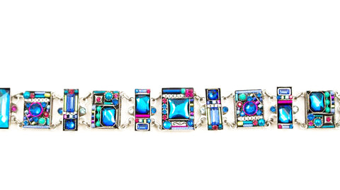 Bermuda Blue Geometric Bracelet by Firefly Jewelry