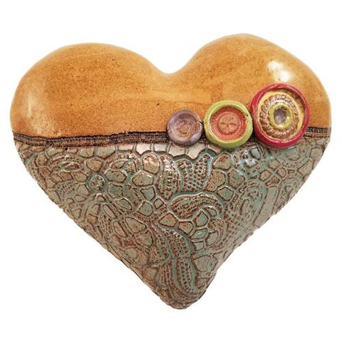 Annie's Little Fatty in Blue Heart Ceramic Wall Art