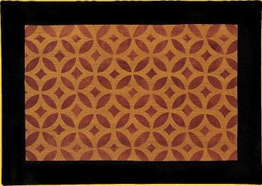 "Isaac Buck House Floorcloth in Antique - Size 24"" x 36"""